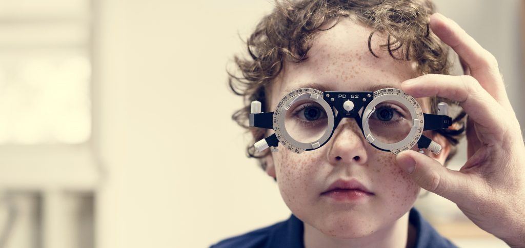 Lakewood Eye Center photo of a Little boy getting his eyes checked